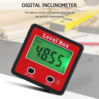 Digital LCD Inclinometer Spirit Level Box Protractor Angle Finder Gauge Meter E