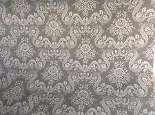 In Tela Cerata Tessuto, rivestito in PVC, design Charlotte, morbido, colore grigio al metro
