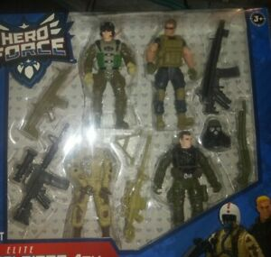 Blip Toys Hero Force ELITE SOLDIERS 4 PACK True Heroes Action Figures w/Weapons