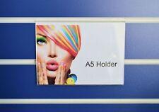 A5 Landscape Acrylic Slatwall Display / Poster / Price / Menu Holder