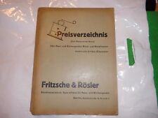 Preisverzeichnis 1939 Fritzsche Rösler Görlitz Haus Küchengeräte Metallwaren usw