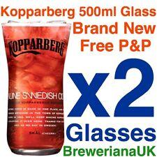 Set Of 2 Kopparberg Glasses 500ml 50cl Brand New 100% Genuine Official