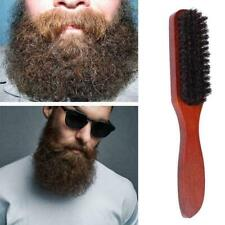 100% Pure Wild Boar Bristle Hair Brush Stiff Natural CL Bristles Tool Z9D5