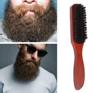 100% Pure Wild Boar Bristle Hair Brush Stiff Natural CL Bristles Tool E6Y4