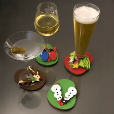 Drink Coasters, Christmas Coasters, Christmas Flip-Flop Coasters, Cocktails