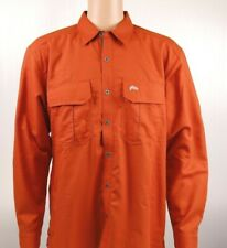 Simms LONG HAUL Short Sleeve Shirt ~ Simms Orange NEW ~ Closeout Size Medium