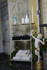 Etagere Serviettes Deco Salle De Bain Vintage Shabby Chic Provencal Blanc Metal