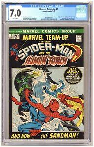 Marvel Team-Up #1 (CGC 7.0) Spider-Man team-ups begin; Human Torch; Andru C707