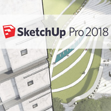 SketchUp Pro 2018 Style Builder 2018 LayOut 2018 Windows 1 PC Lifetime Genuine