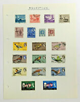 MAURITIUS Stamps on an Album Page