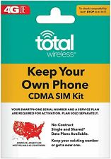 Total Wireless Keep Your Own Phone 3-in-1 Prepaid Sim Kit - New