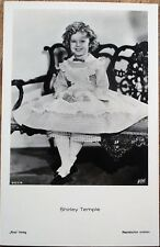Shirley Temple 1930s Realphoto Movie Star Postcard - Seated in Dress