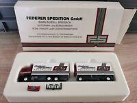 (Box K1) Herpa LKW H0 1:87 MAN Federer Spedition OVP