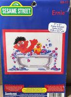 Janlynn Sesame Street 68-12 Ernie in Bath Rubber Ducky Cross Stitch Kit w Frame