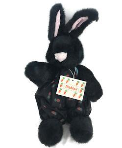 Nibbles North American Bear Co. Hare Black Bunny Rabbit Plush NABCO Carrot Club