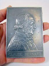 Plaque Aluminium 111 x 80 mm Medicine Claude Bernard par A. Borrel, poinçon
