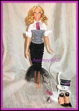 Black & white myscene date night outfit fits model muse silkstone Barbie