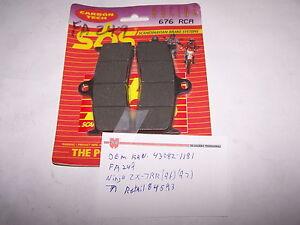 KAWASAKI ZX-7RR NINJA BRAKE PAD SET 1996 -1997 NEW AFTERMARKET SBS