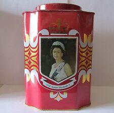 VINTAGE Royal Queen Elizabeth DUKE OF EDINBURGH  SILVER JUBILEE TIN England 1977