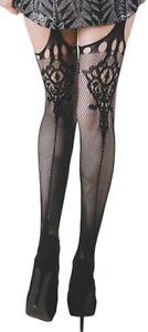 Killer Legs Fishnet Spanish Fan Pantyhose black tights