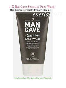 ManCave Sensitive Face Wash  MEN Skincare Facial Cleanser Aloe Vera 1x125ml