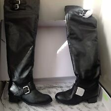 COLIN STUART OVER KNEE BOOTS BLACK, SIZE 6.5  New In Box