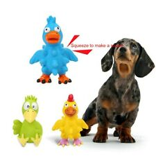 Pet Dog Puppy Molar Teeth Biting Vocal Squeeze Toy Animal Bird Shape Chew Toys