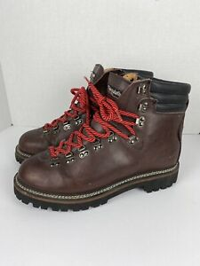 COLORADO Men's Hiking Boots 12 Vintage Korea Brown Suede Leather Red Thinsulate