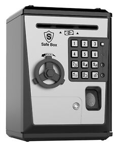 Toy Piggy Bank Safe Box Fingerprint ATM Bank Savings Bank