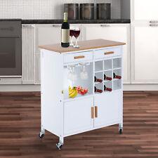 Homcom Küchenwagen Küchentrolley Beistellwagen Servierwagen Küchenregal mit