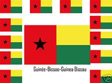 Assortiment lot de 25 autocollants Vinyle drapeau Guinée-Bissao-Guinea-Bissau
