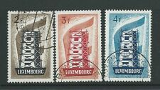 LUXEMBOURG 1956 EUROPA SET FINE USED CAT £85
