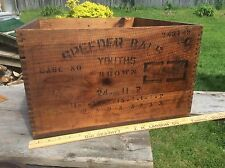 Antique Dovetail Railroad Shipping Crate, Advertising Wood Box , Speeder Bals