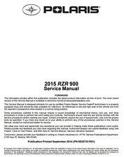 BEST DIGITAL - 2015 Polaris RZR S RZRS EPS XC 900 Service Manual CD ONLY