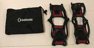 Kahtoola NANOspikes Footwear Traction Size Medium Black Red
