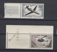 France 1957 Air 500f 1000f SG1319/20 MNH Margins Superb J7211