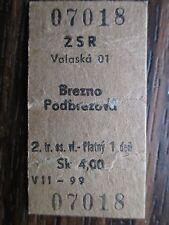 alte Fahrkarte Bahn Eisenbahn Fahrschein