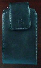 "Black Leather Blackberry Case with Belt Clip - Approx 5"" x 2 1/2"" x 1 1/2"""
