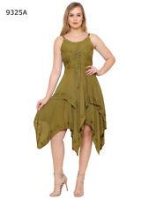 Lapogee Women/'s Summer// Beach Crochet Back Dress in Plus
