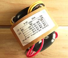 220V 30W r-core transformer for audio ampli amplificateur micros cad cd 24V+24V 9V+9V