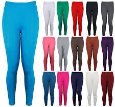 Womens New Plain Stretch Ladies Full Long Trousers Pants Leggings Plus Size