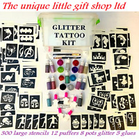 GLITTER TATTOO KIT 300 LARGE 20 Glitters OR REFILS Items