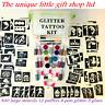 GLITTER TATTOO KIT 300 LARGE 20 Glitters OR REFILS Items