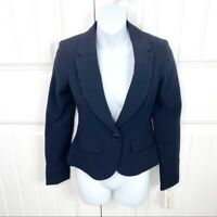 Hollywould Womens Black One Button Blazer Jacket Size XS NWT Notched Collar