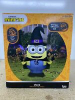 Gemmy Despicable Me Minion Halloween 3.5 ft Dave as Witch Airblown Inflatable