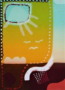 Snir SHAIKE Jerusalem in the Kimberleys II...Lin Onus - Signed Abstract Bold Art