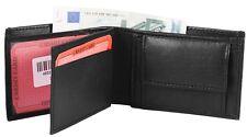 Schmale Mini Geldbörse aus Echtleder Brieftasche Geldtasche Echt Leder schwarz