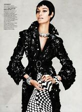 Prada Black Embellished Coat with Cuffs Fall/Winter 2013 Size 38IT