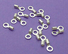Bucle interno 1.5mm y 0.9mm Crimp Dia 925 Cadena De Plata Esterlina End Cap Crimp 6