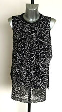 Ladies M&S Collection  Size 12 Sleeveless 2 Layer Tunic Top Bnwt Black Mix